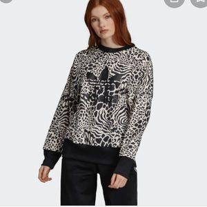 Animal print inspired sweatshirt